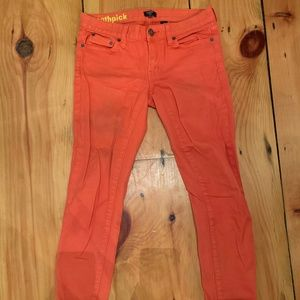 Salmon Toothpick Jeans from J Crew Factory
